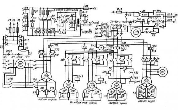Кран КБ-160.2а. Схема